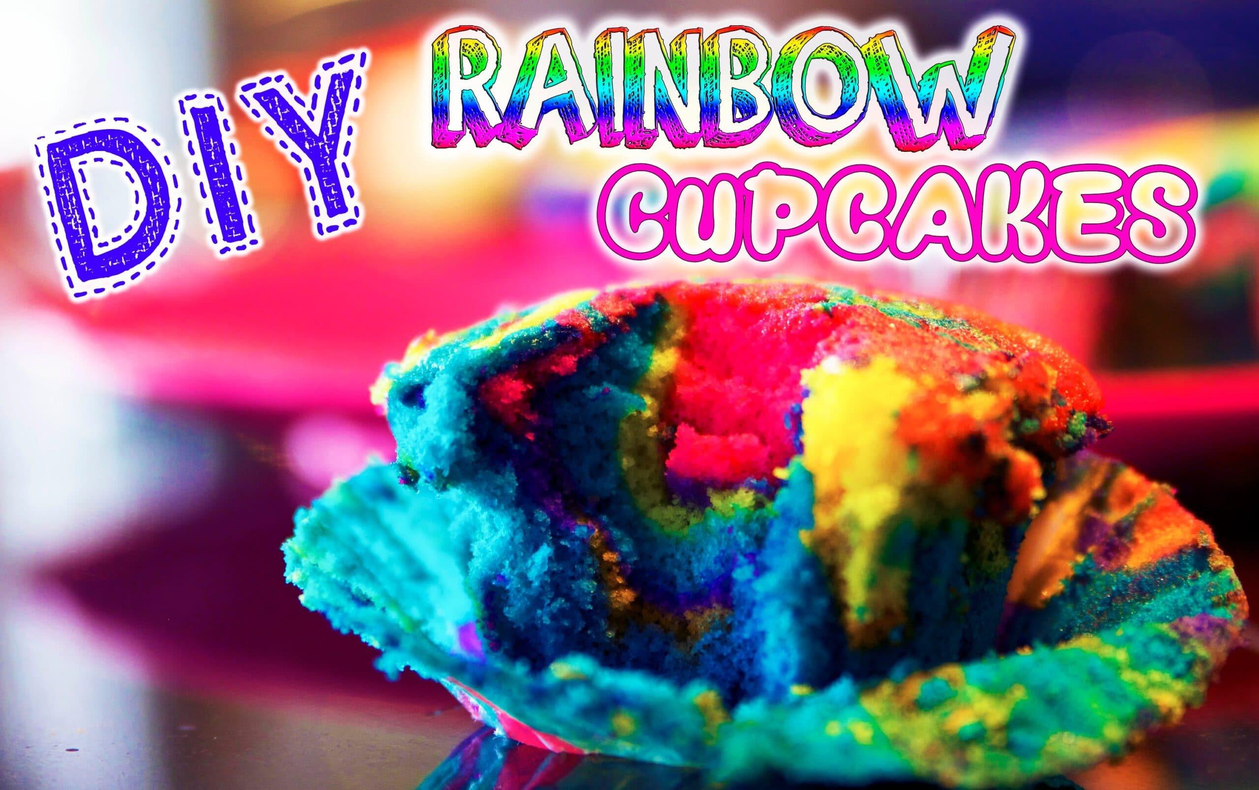 DIY Tie Dye Rainbow Cupcakes