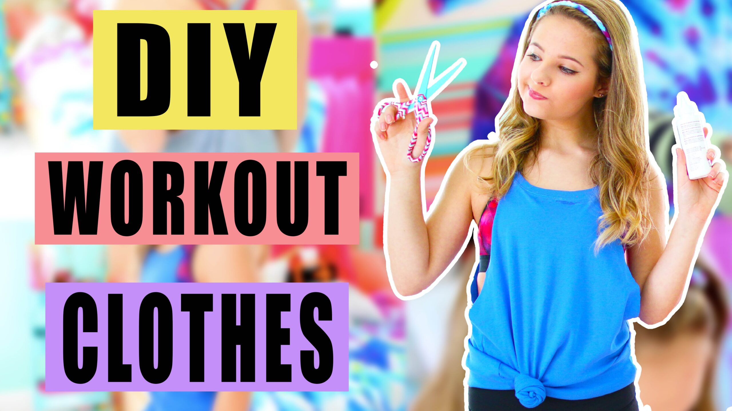 DIY Workout Clothes    Upcycle Your Old T-Shirts!