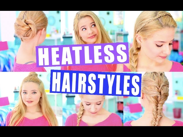 Easy Heatless Hairstyles! Tumblr Inspired