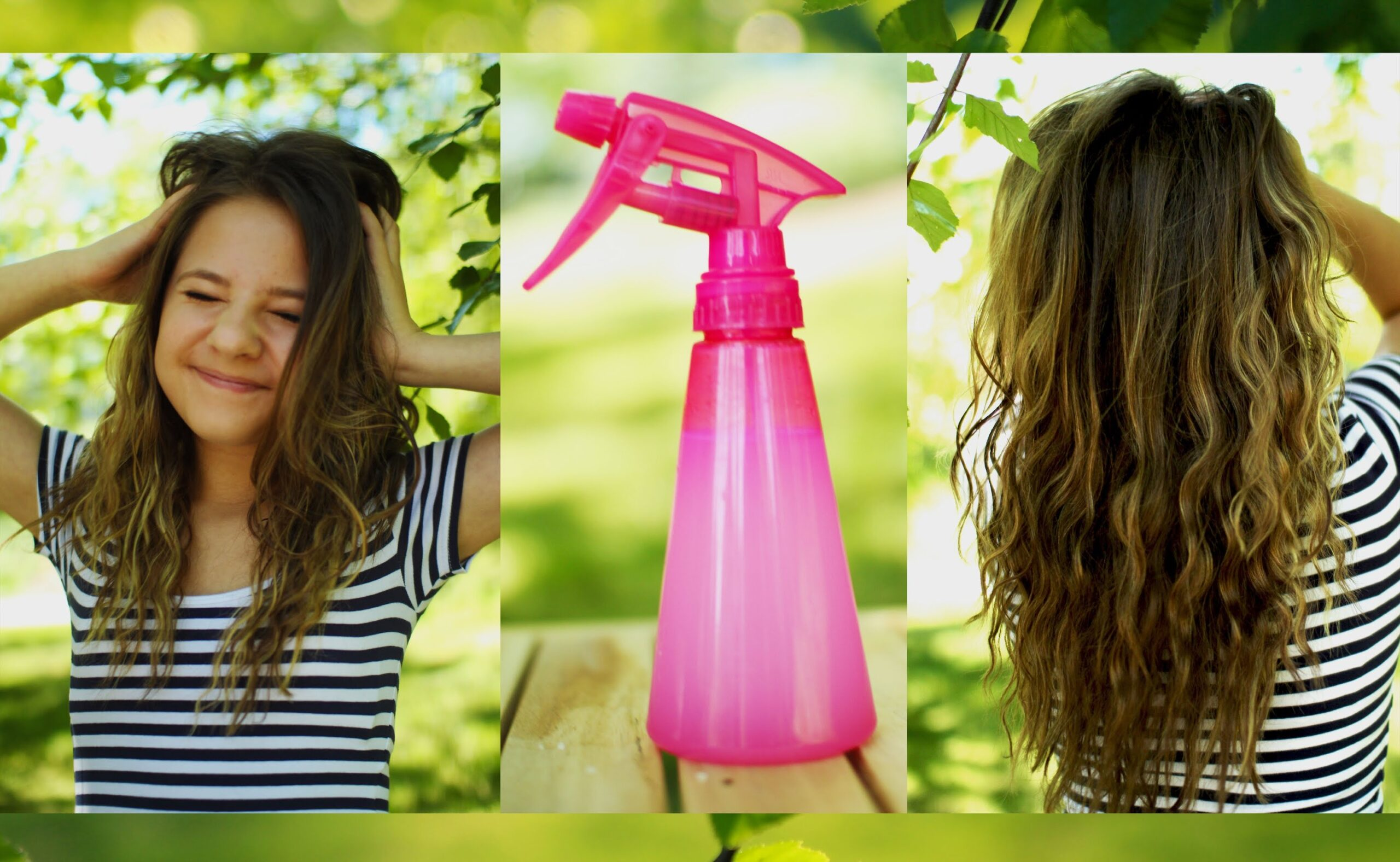 Heatless beachy waves + DIY sea salt hair spray