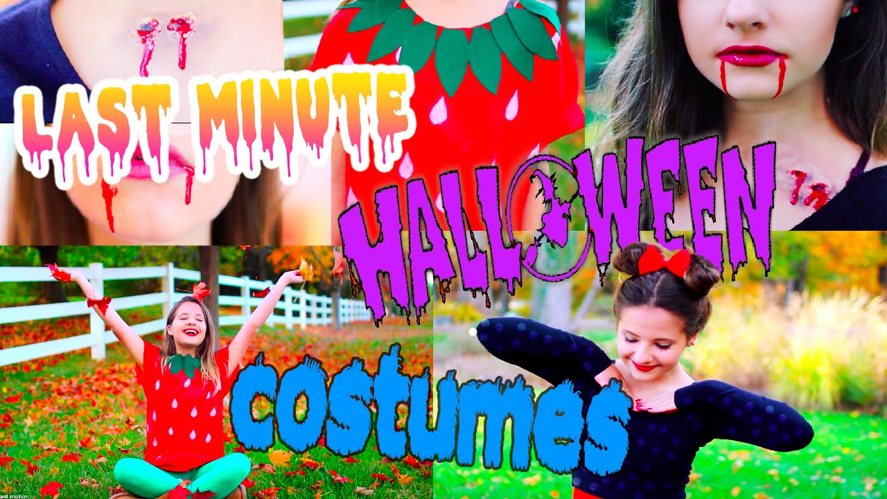 Last Minute Halloween Costume Ideas!