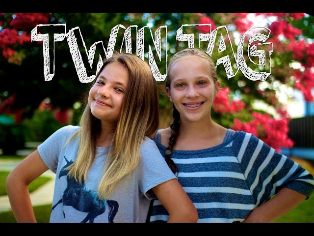 Twin Tag Featuring My Twin Sister Brynn//collab